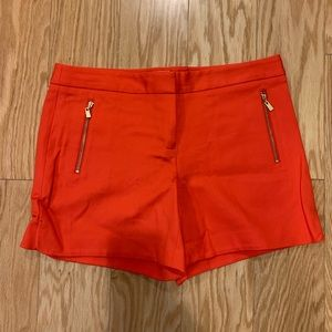 Salmon Shorts with Gold Zippers